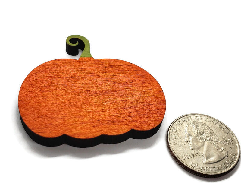 Personalized Painted Wood Pumpkin Magnet