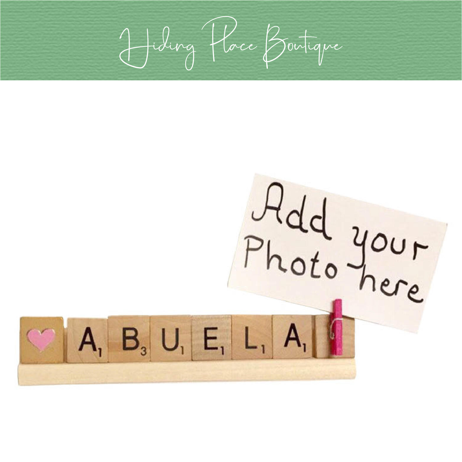 abuela photo frame by hiding place boutique