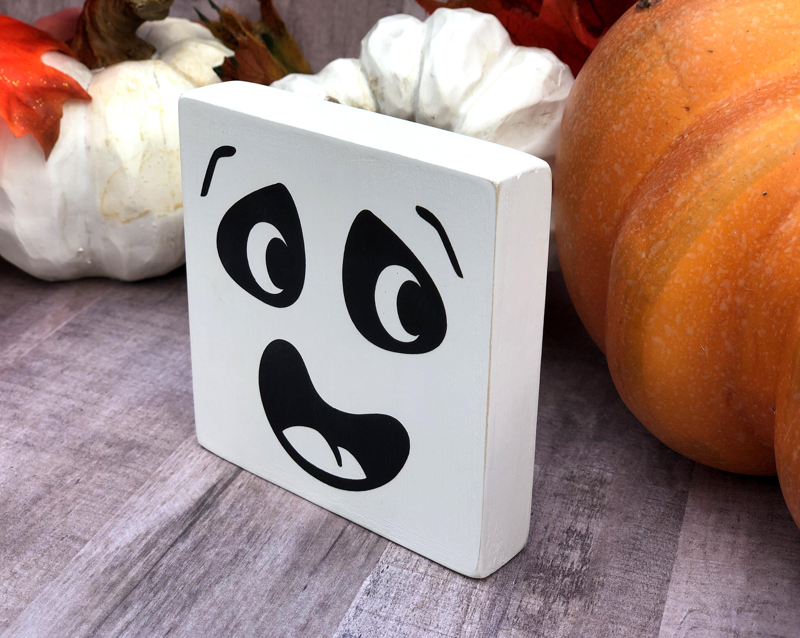 Halloween Silly Faces, Mini Wood Sign Trio