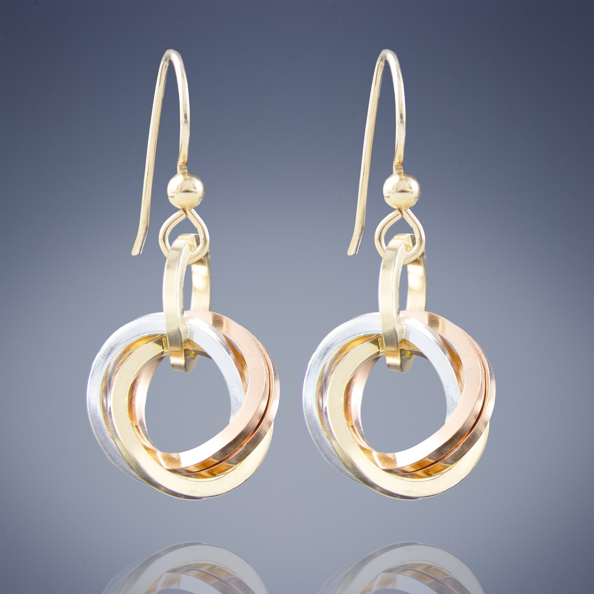 Handmade 925 Sterling Silver Mother and Child Knot Hoop Earring