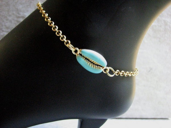 blue-and-gold-cowrie -anklet
