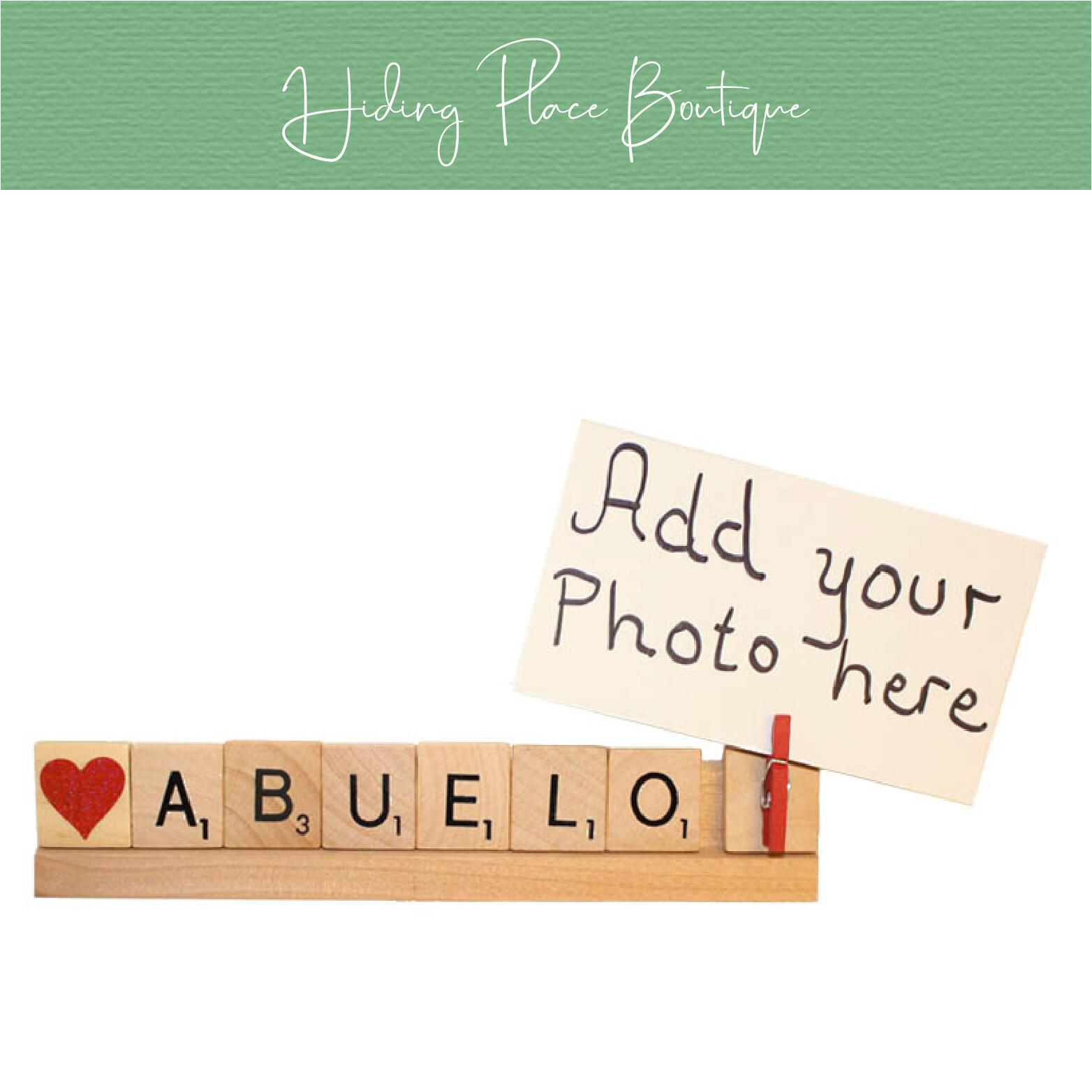 abuelo photo frame