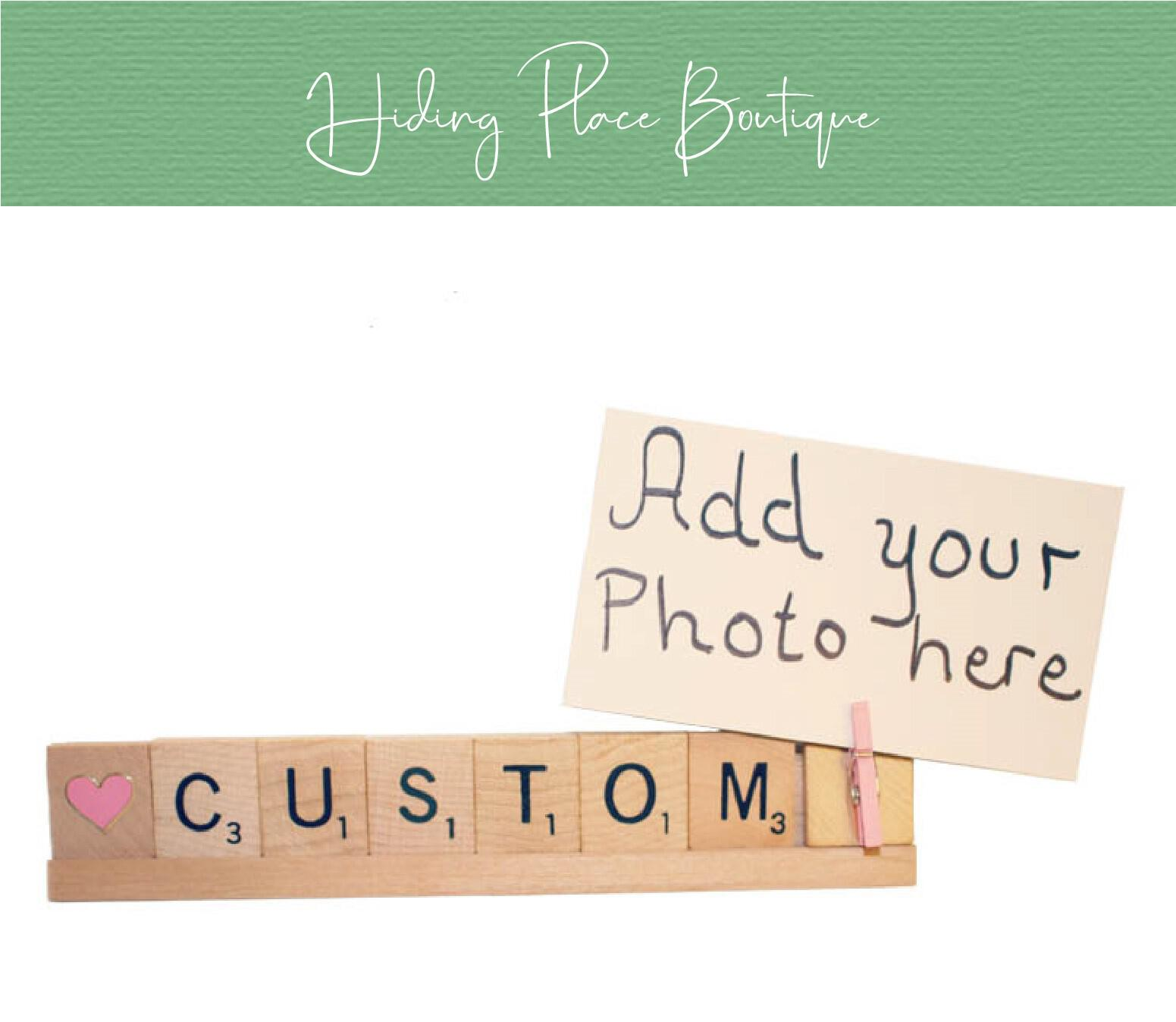 custom scrabble photo frame