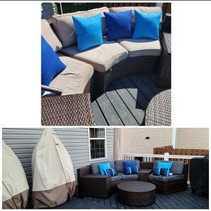 Water Stain Resistant Elastic Protective Cushion Cover indooroutdoor furniture boat RV patio Rave NEW COLORS camper sun room