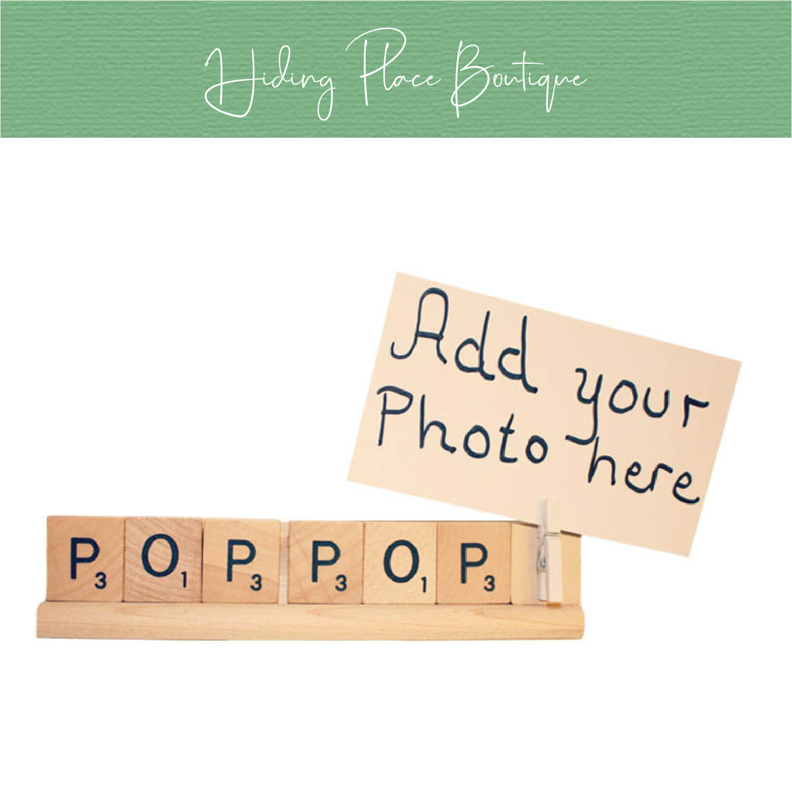 pop pop photo frame t