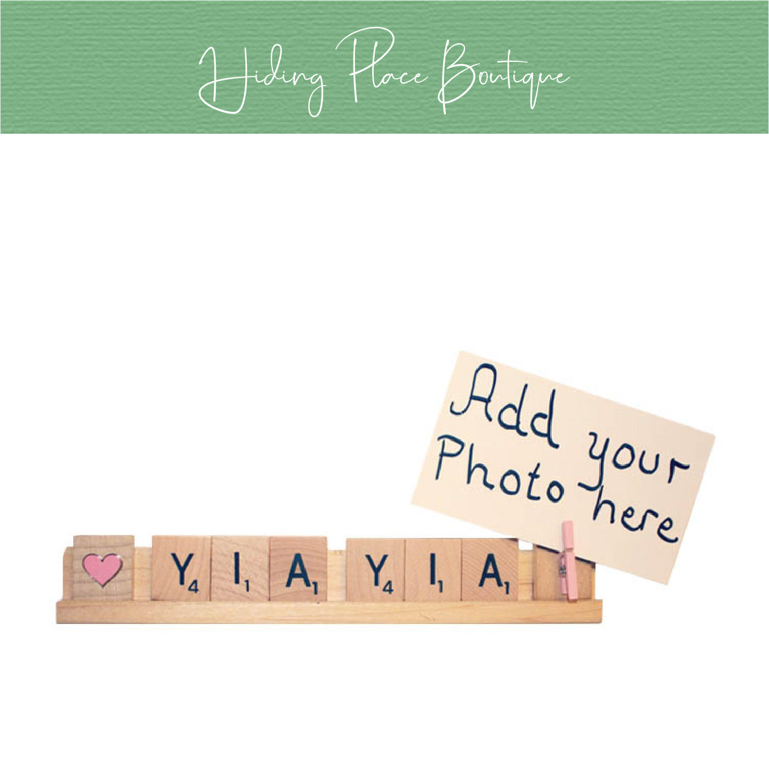 yia yia photo frame by hiding place boutique