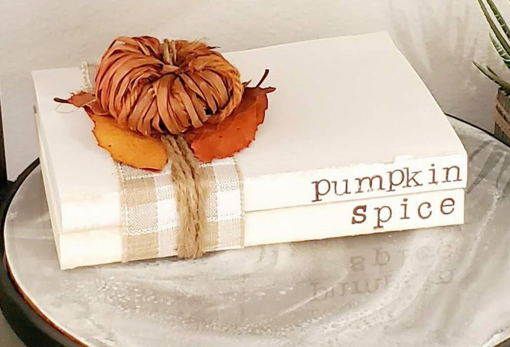 pumpkin book stack