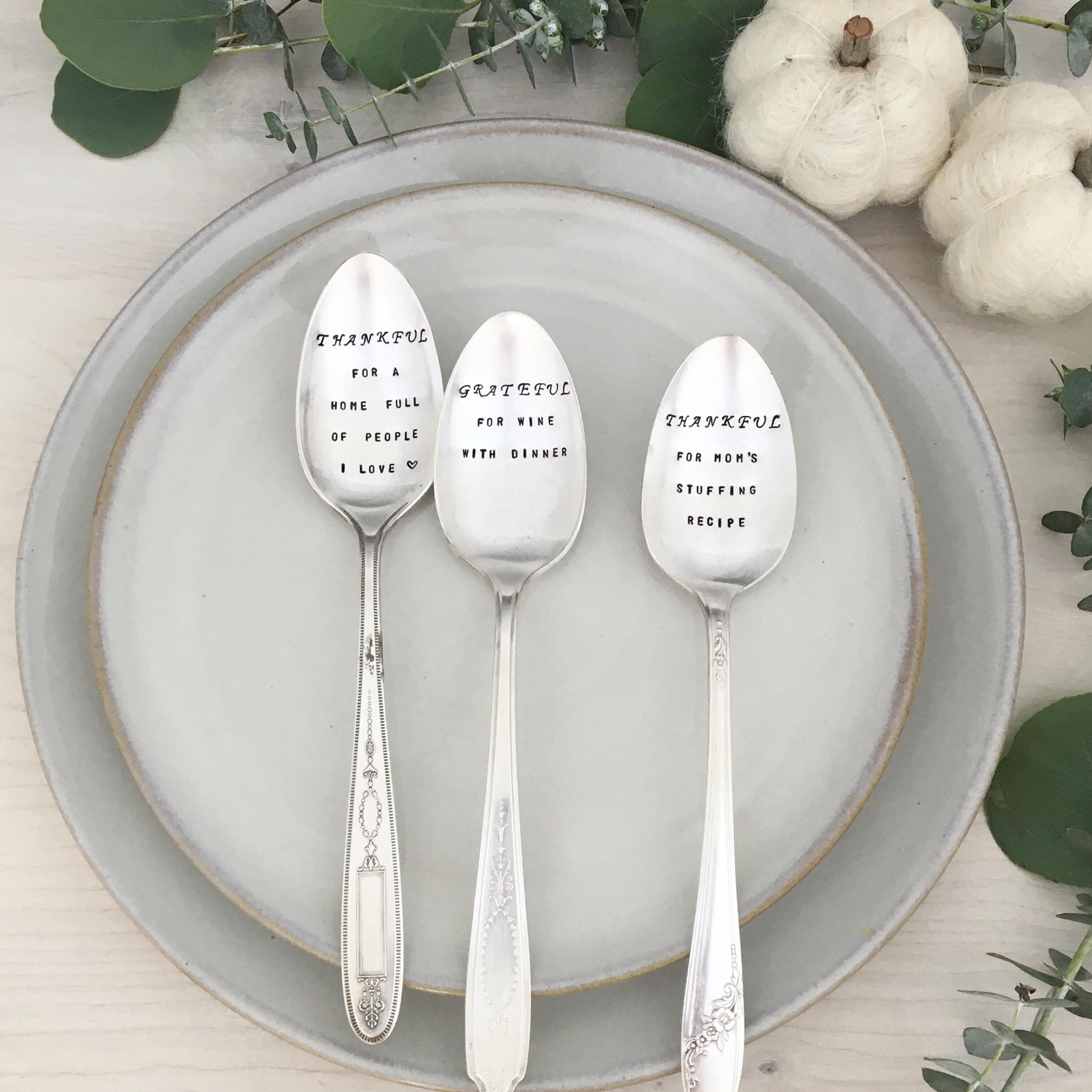Personalized Silverware Design Your Own Text Vintage Silverplate Teaspoon Custom Spoon