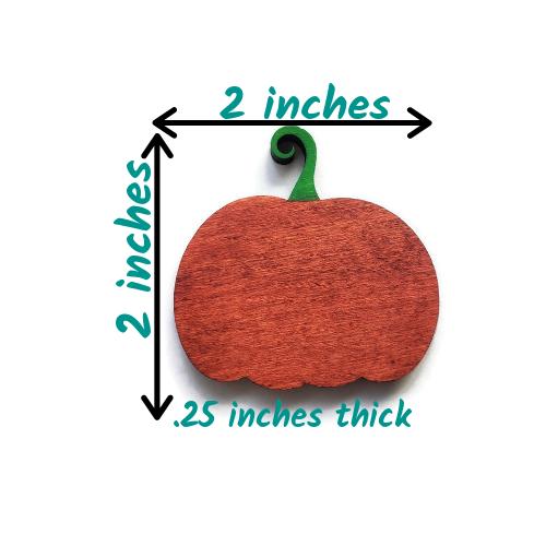 Painted Wood Pumpkin Magnet