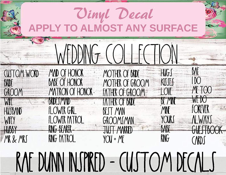 rae dunn wedding decal