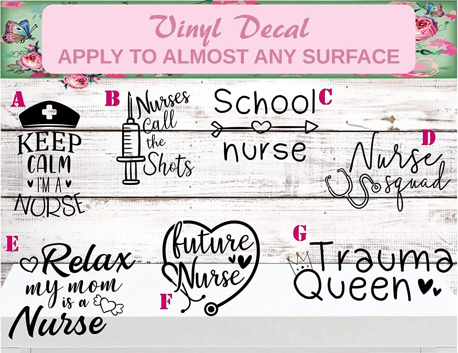 nurse car decals