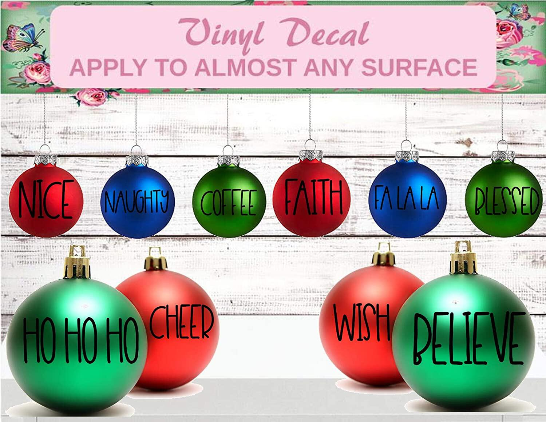 christmas ornament decal