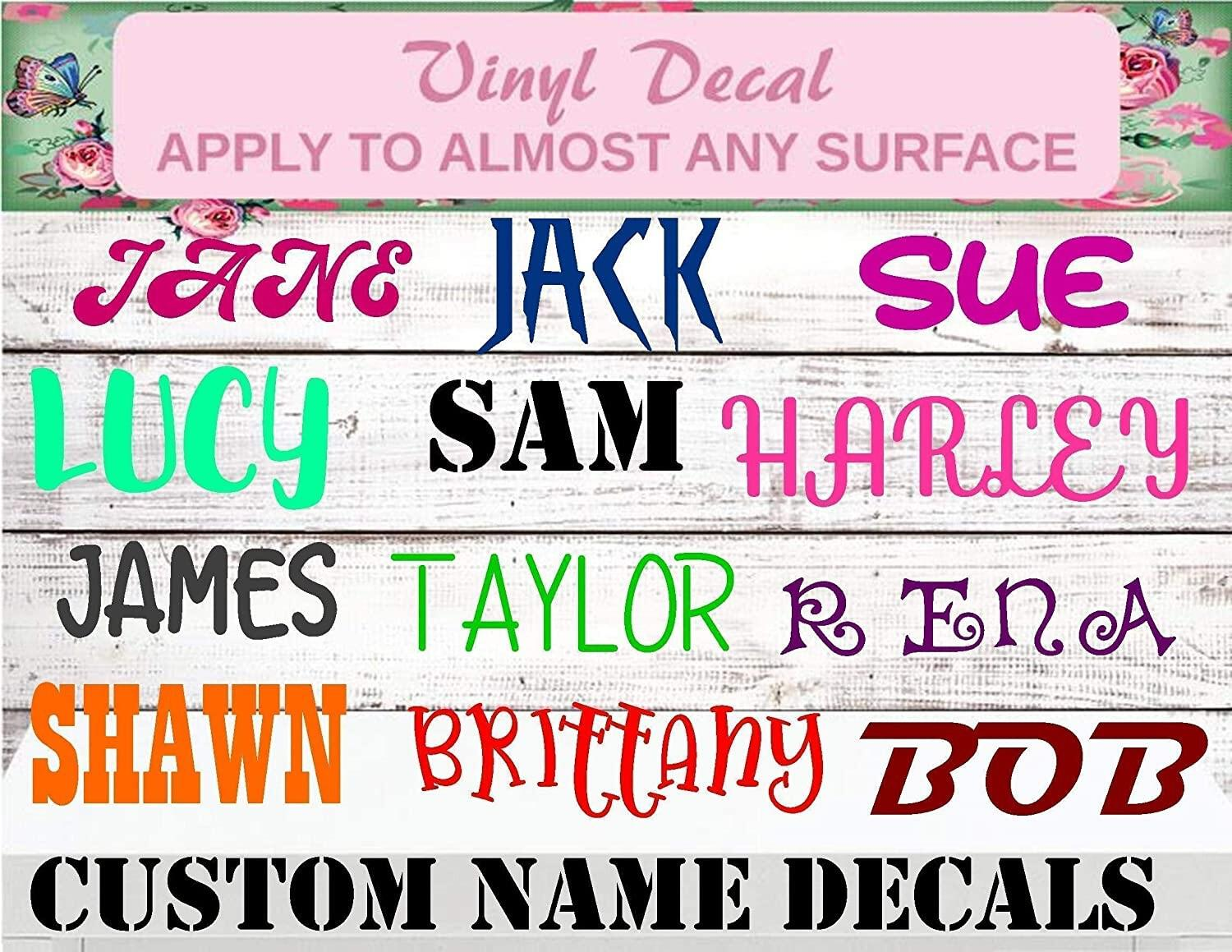 personalized name decals