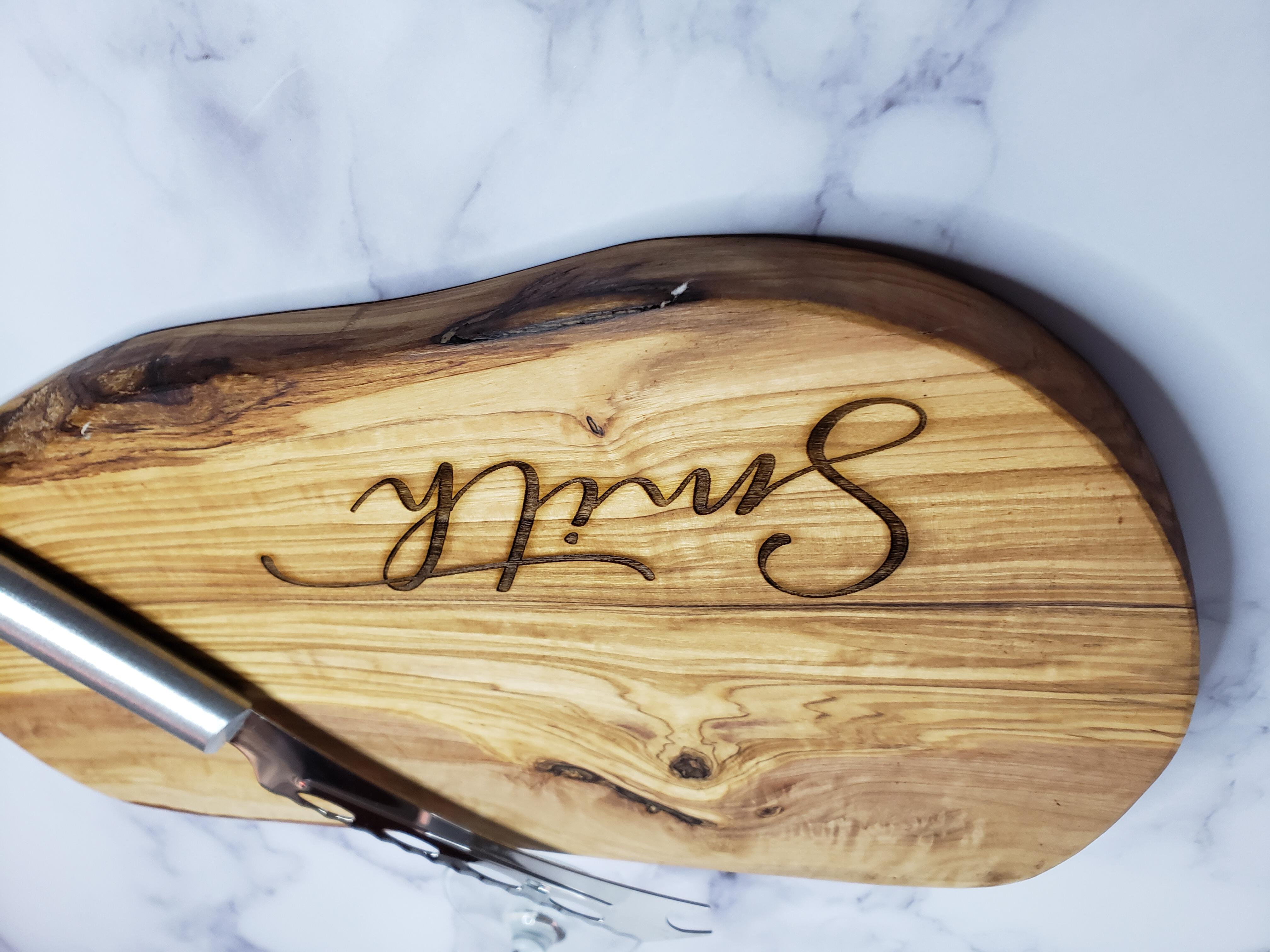 Home Living Kitchen Dining Cutting Boards Olive Wood Engraved Cutting Board Laser Engraved Personalized Cutting Board Charcuterie Board Customized Cutting Board