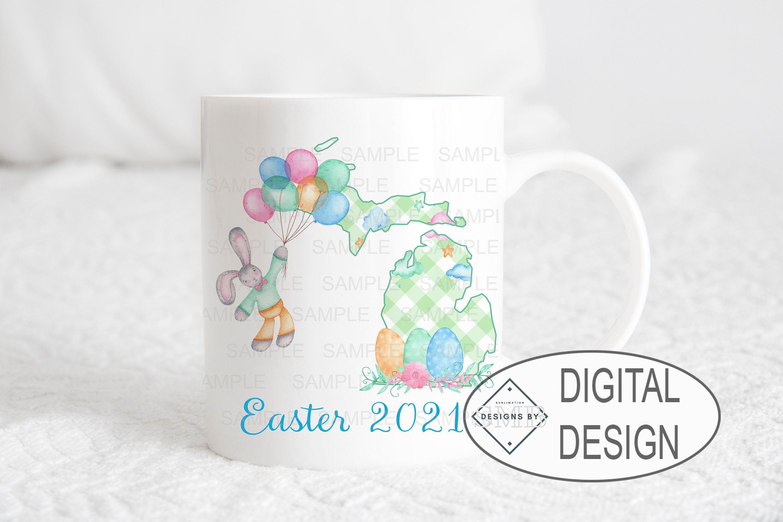 Easter Frame Sublimation PNG Design /& Mug Template