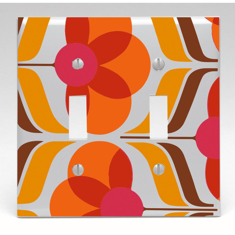 Retro Wallpaper Switch Cover Night Light Cabinet Knob