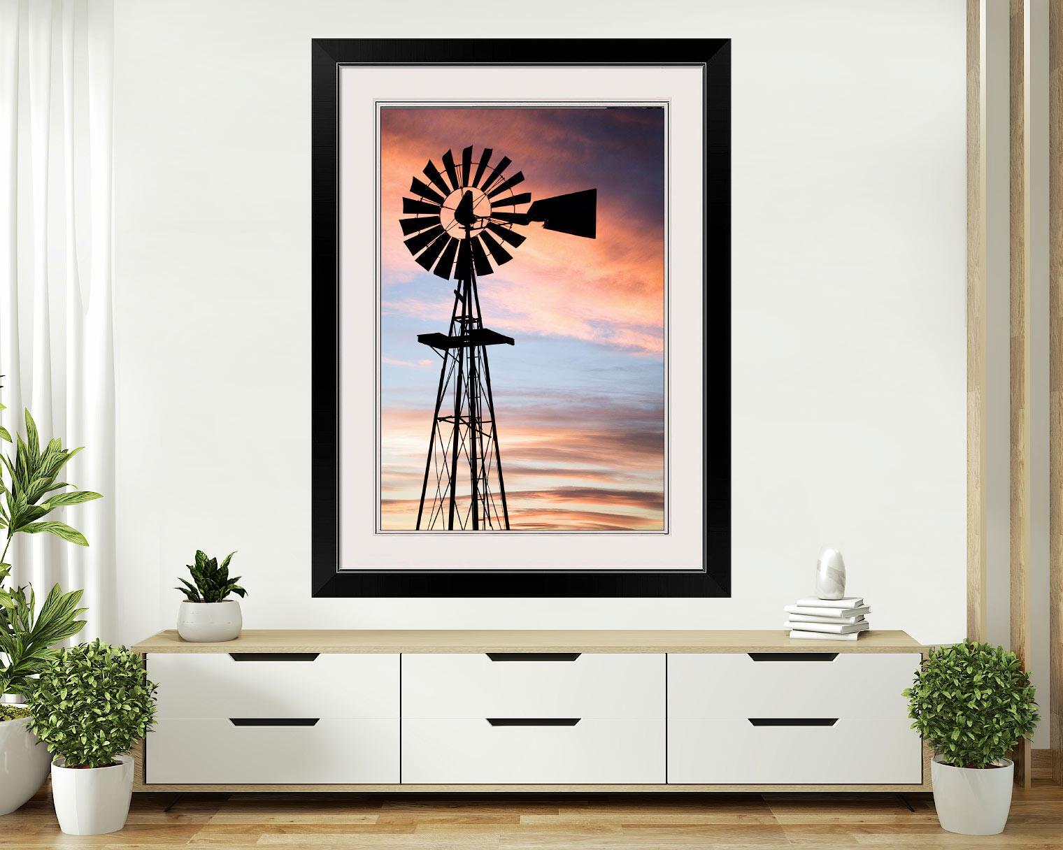 Vintage Rustic Farm Windmill