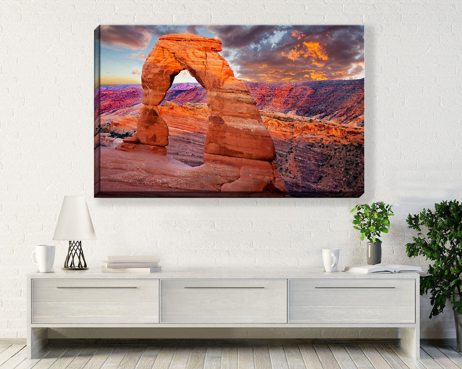 Red Delicate Arch  at Arches National Park, Utah