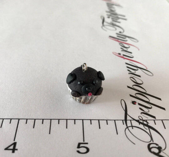 Black Pug Pupcake