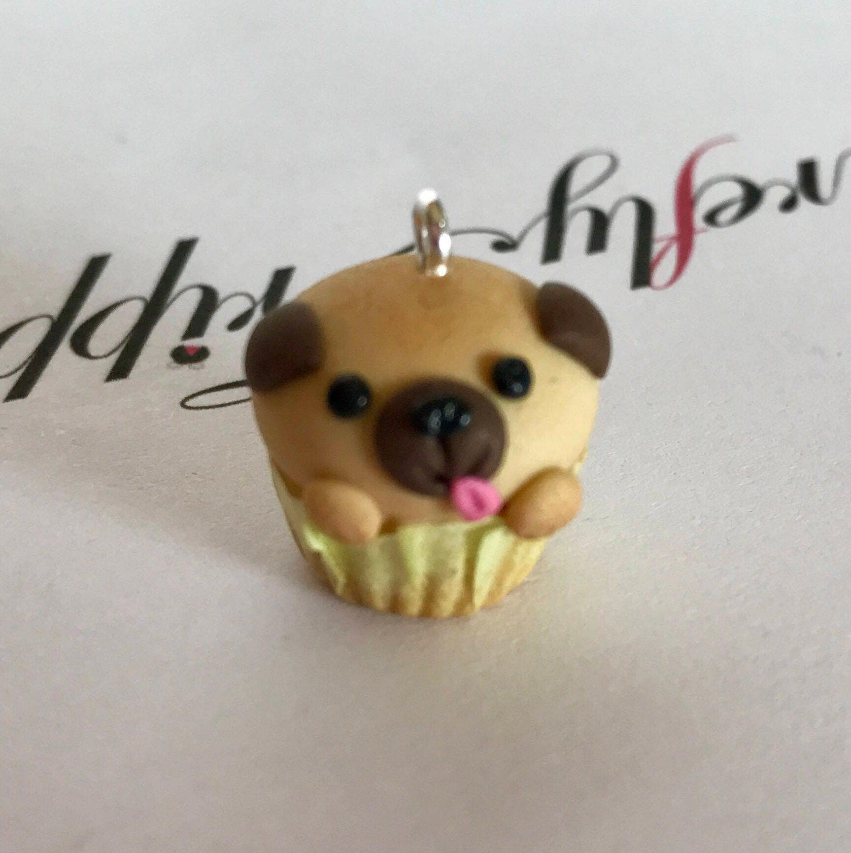 Fawn pug pupcake
