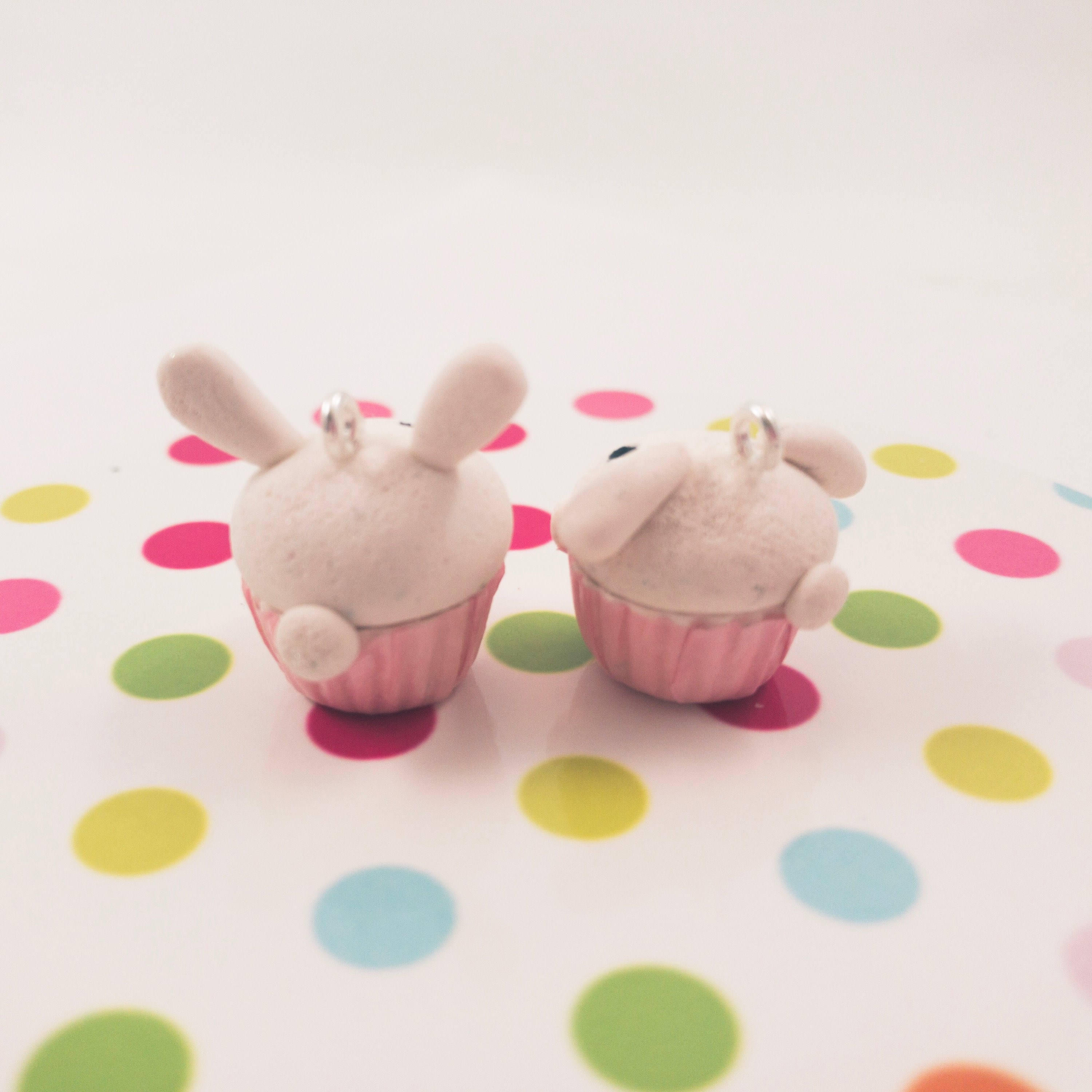 fireflyFrippery Rabbit Cupcake Charms Rear View