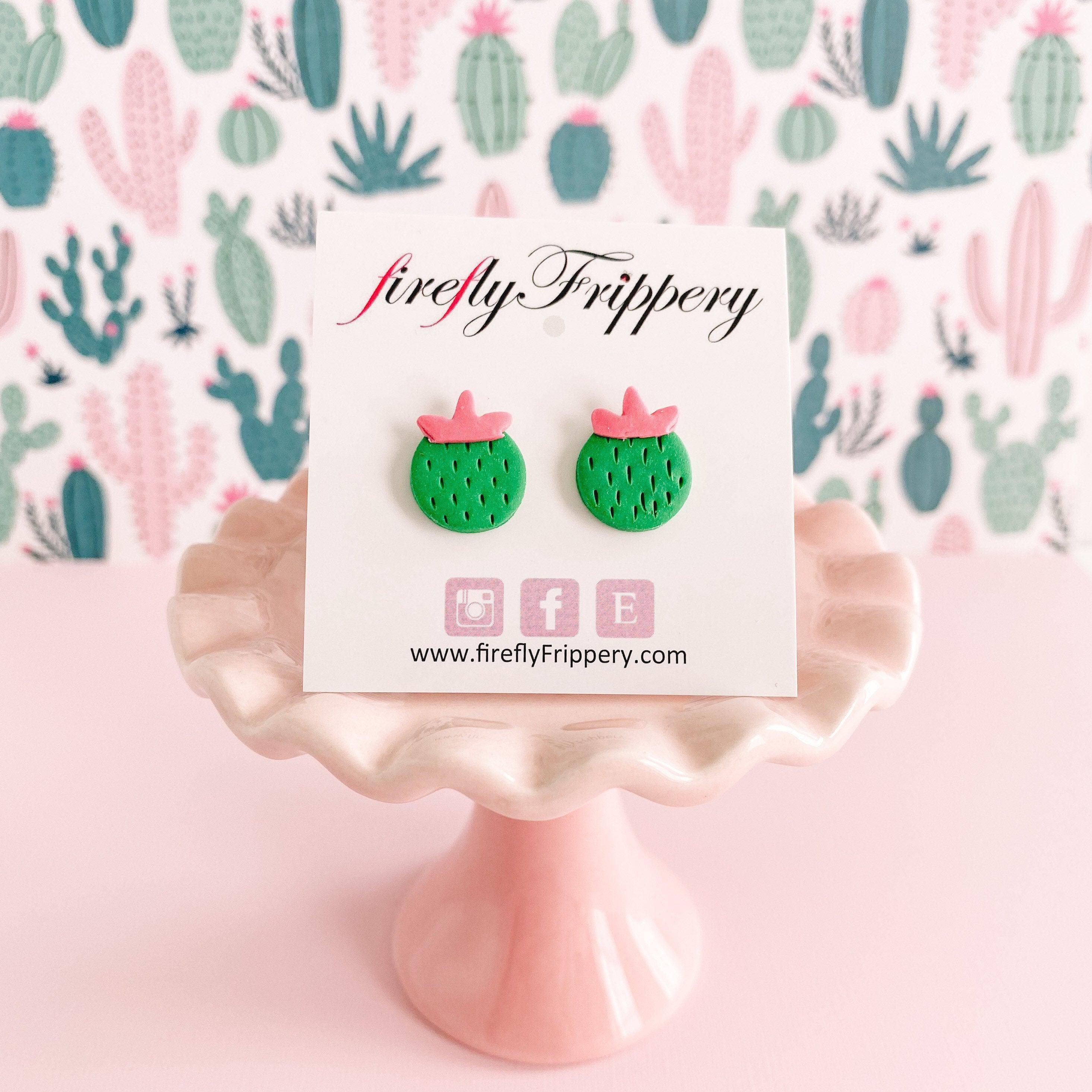 Cute Cactus Stud Earrings