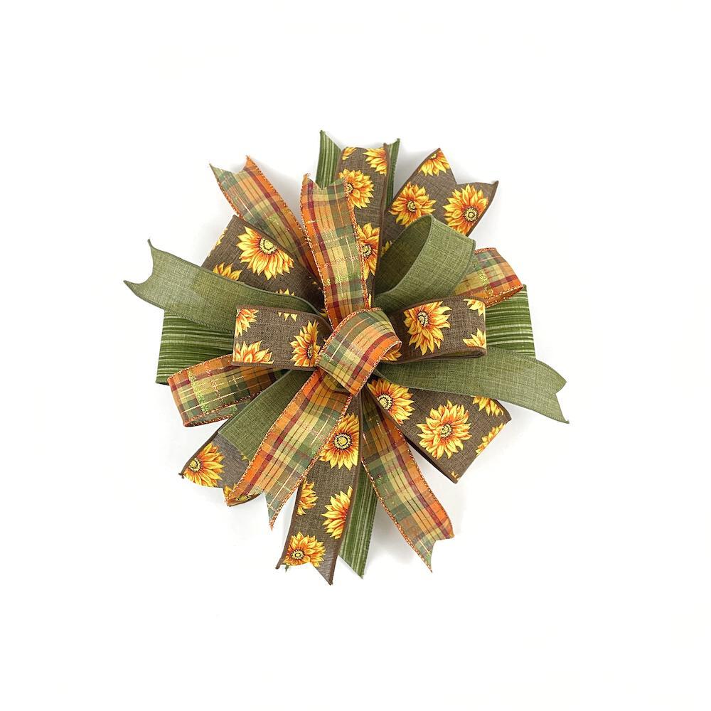Autumn wreath bow