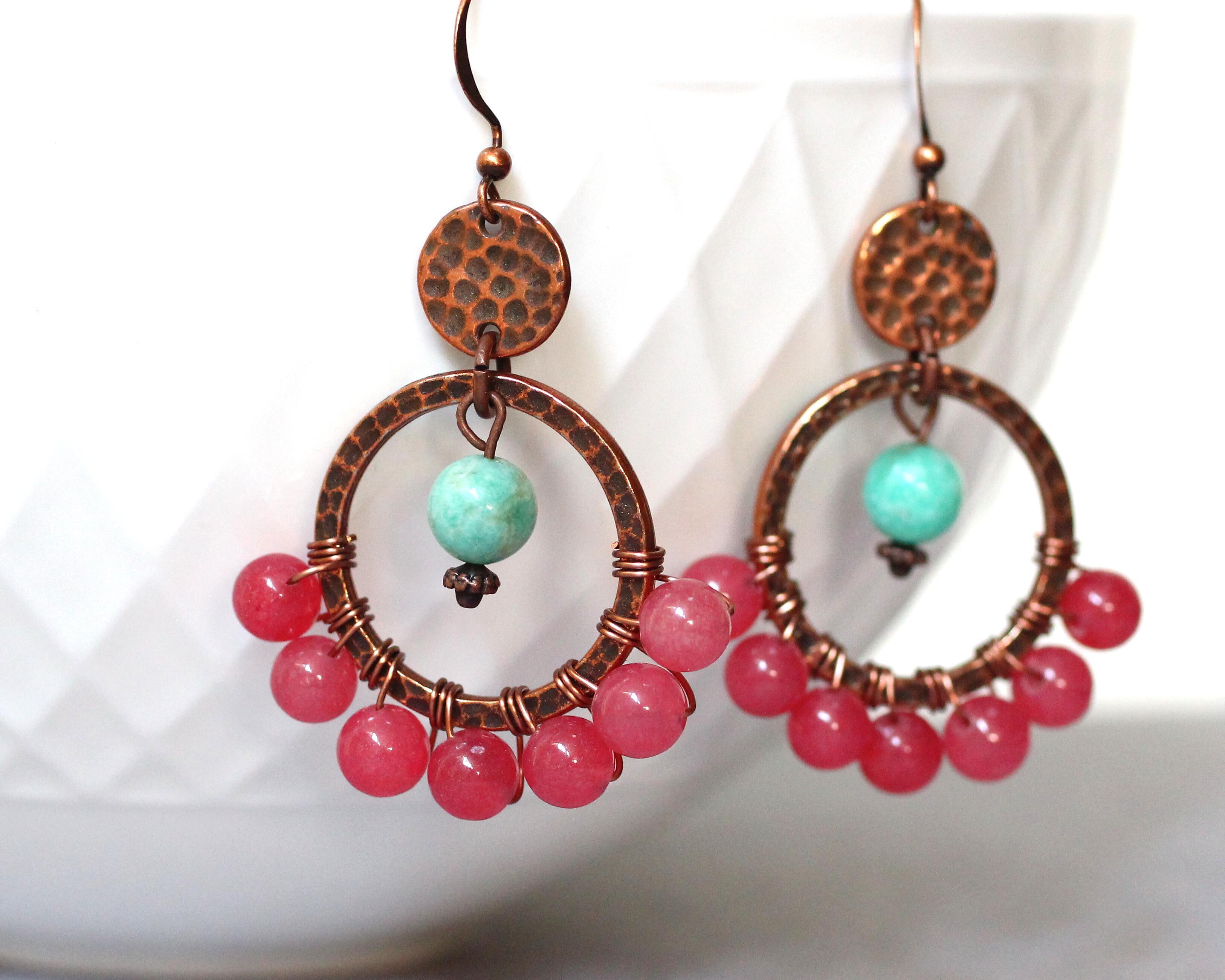 Copper Gypsy Hoop Earrings