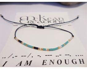 I Am Enough Morse Code Bracelet