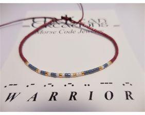 Warrior Morse Code Bracelet, Friendship Bracelet