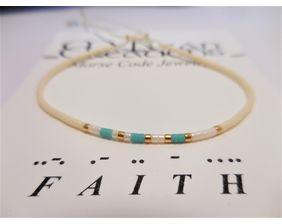 Faith Morse Code Bracelet, Friendship Bracelet