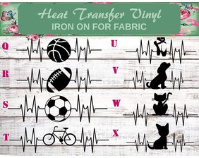 heartbeat iron on decals