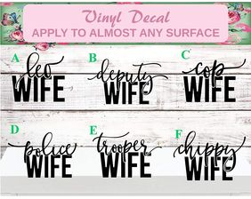 law enforcement wife car decal