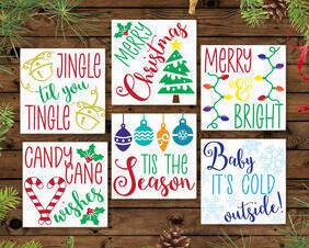 Mini Christmas Holiday Signs