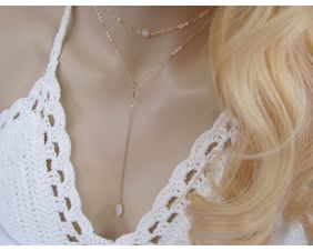 Dainty Moonstone Layering Necklaces