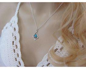 Sleeping Beauty Turquoise Teardrop Pendant