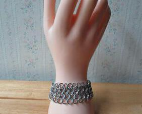 Chainmaille European 4 in 1 Cuff Bracelet - Small