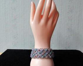 Chainmaille Helm Weave Cuff Bracelet-Pastels
