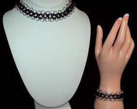 Chainmaille choker or bracelet, japanese 12 in 1