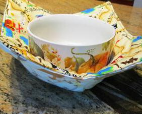 microwave bowl cozy, reversible pirates and monkeys