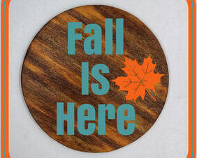 Personalized round rustic wood magnets