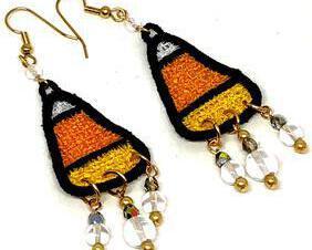 Handmade Candy Corn Dangle Earrings