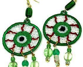 Halloween Eyeball 2 Dangle Earrings