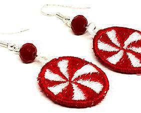 Handmade Christmas Peppermint Candy Earrings