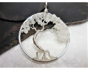Moonstone Tree of Life Pendant