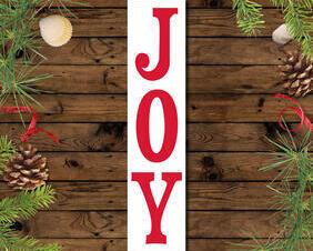 Joy Christmas Sign