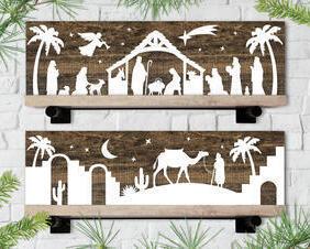 Christmas Manger Scene Signs