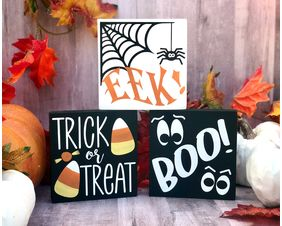 Halloween Signs, Trick or Treat, EEK!, BOO!