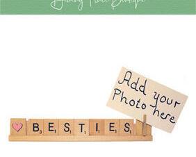 besties photo frame
