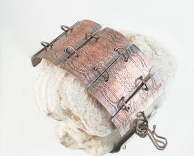 Copper Link Panel Boho Bracelet